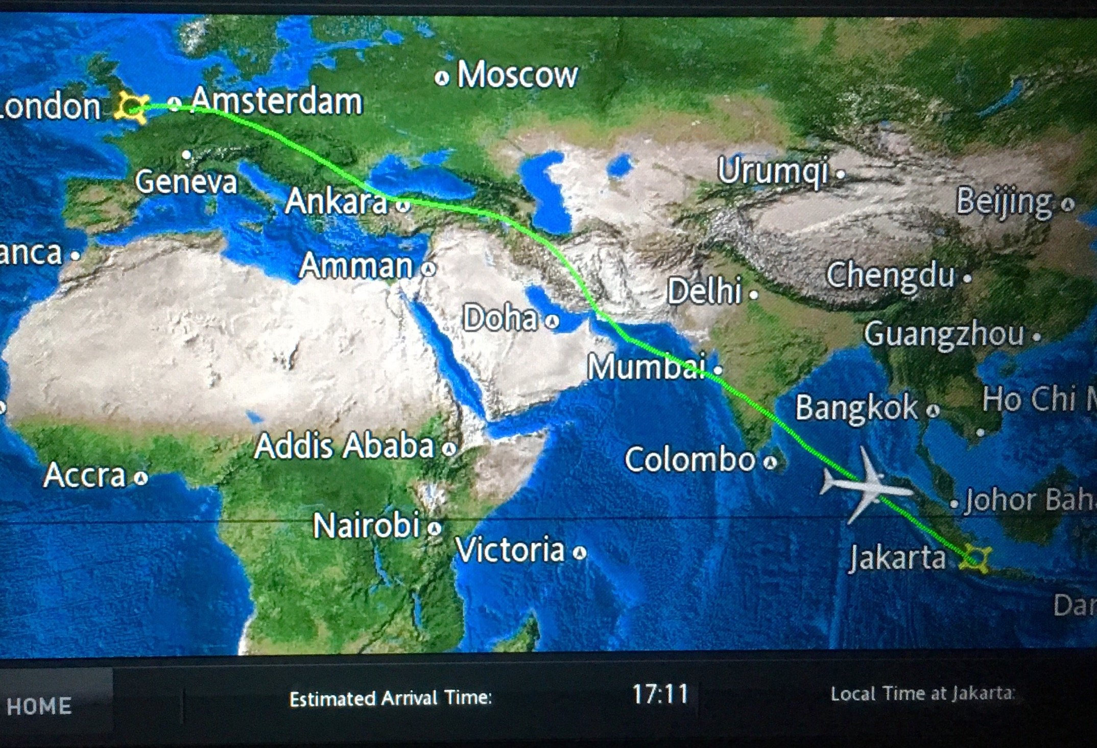 Route map: Flight GA 87 Review
