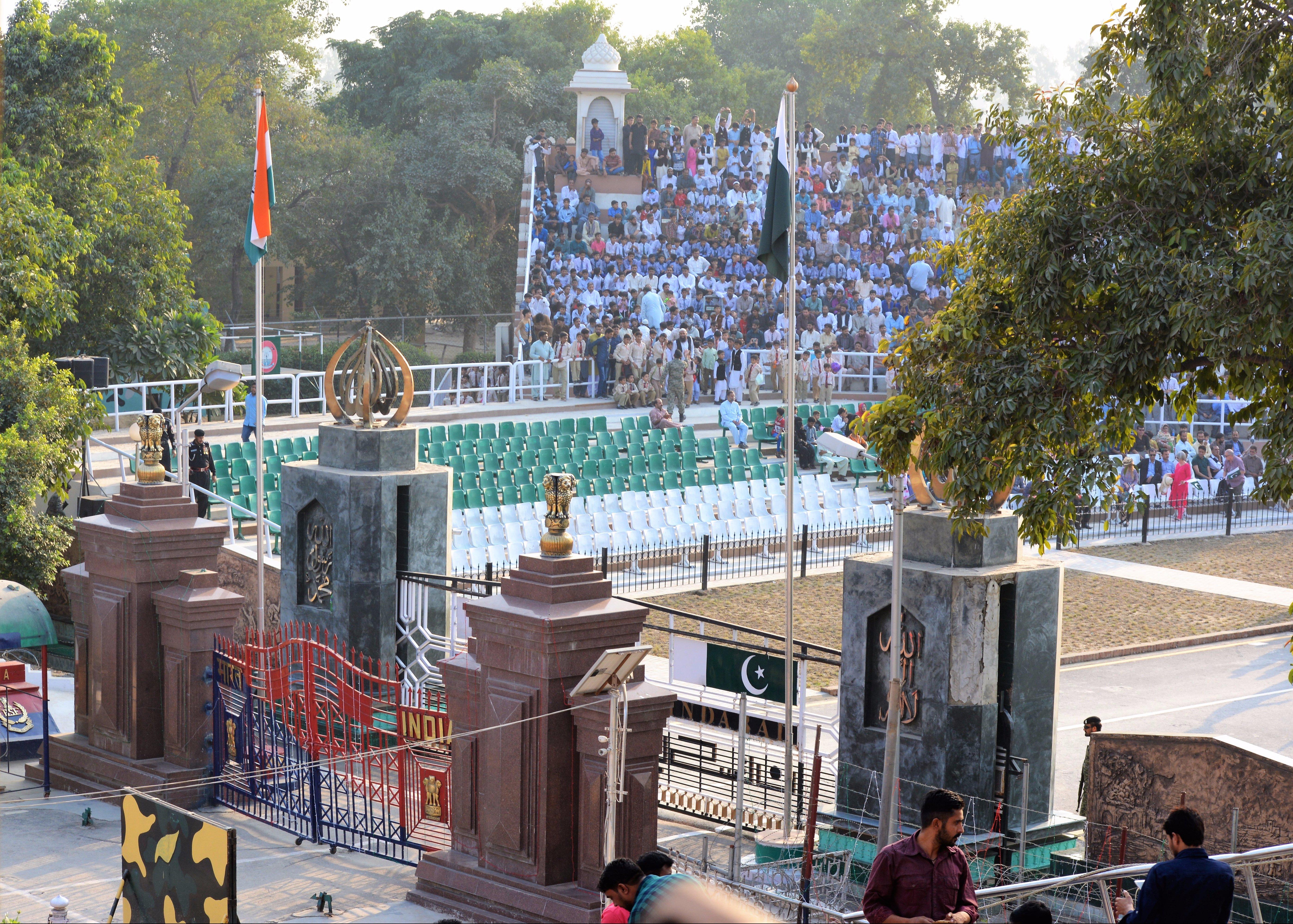 India Pakistan Border Gates at Wagah