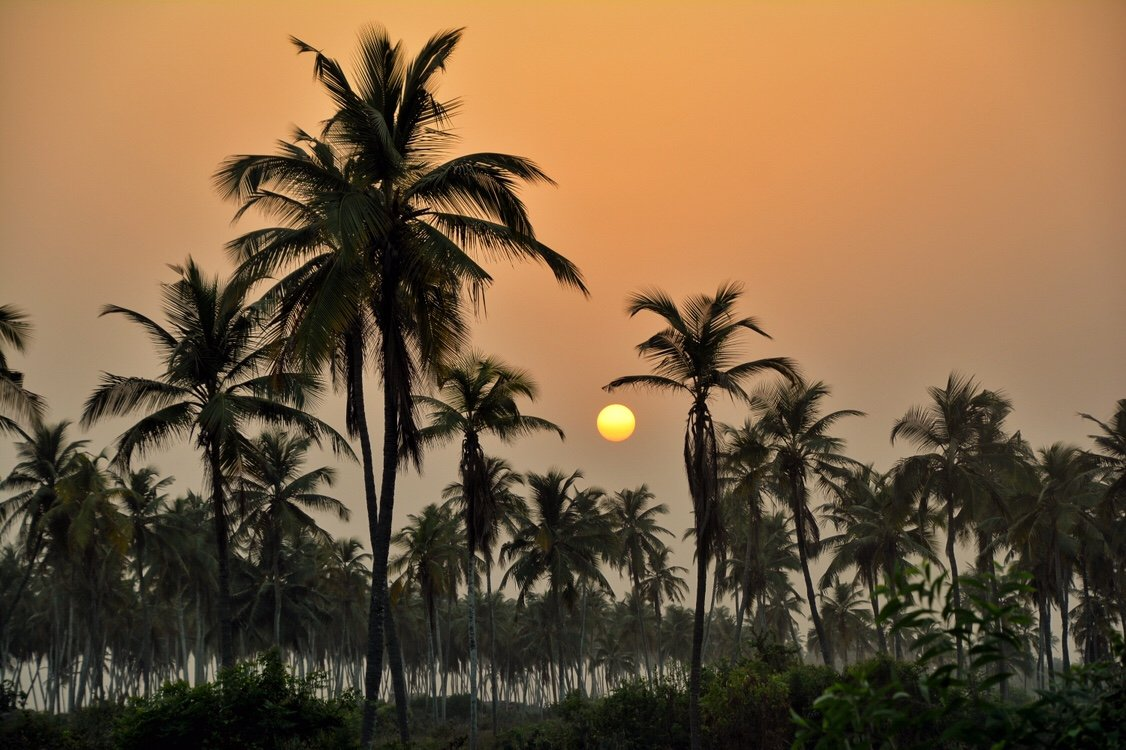 Sunset on Benin's Atlantic coast, Ouidah