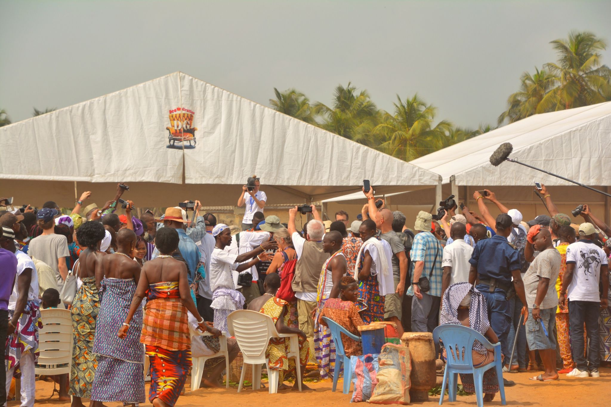 Spectators at the Voodoo Festival (Fete du Vodoun), Ouidah, Benin