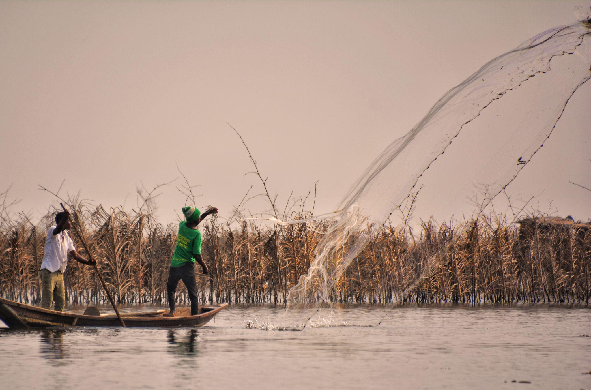 Ganvie Village Fishermen, Lake Nokoue, Cotonou, Benin