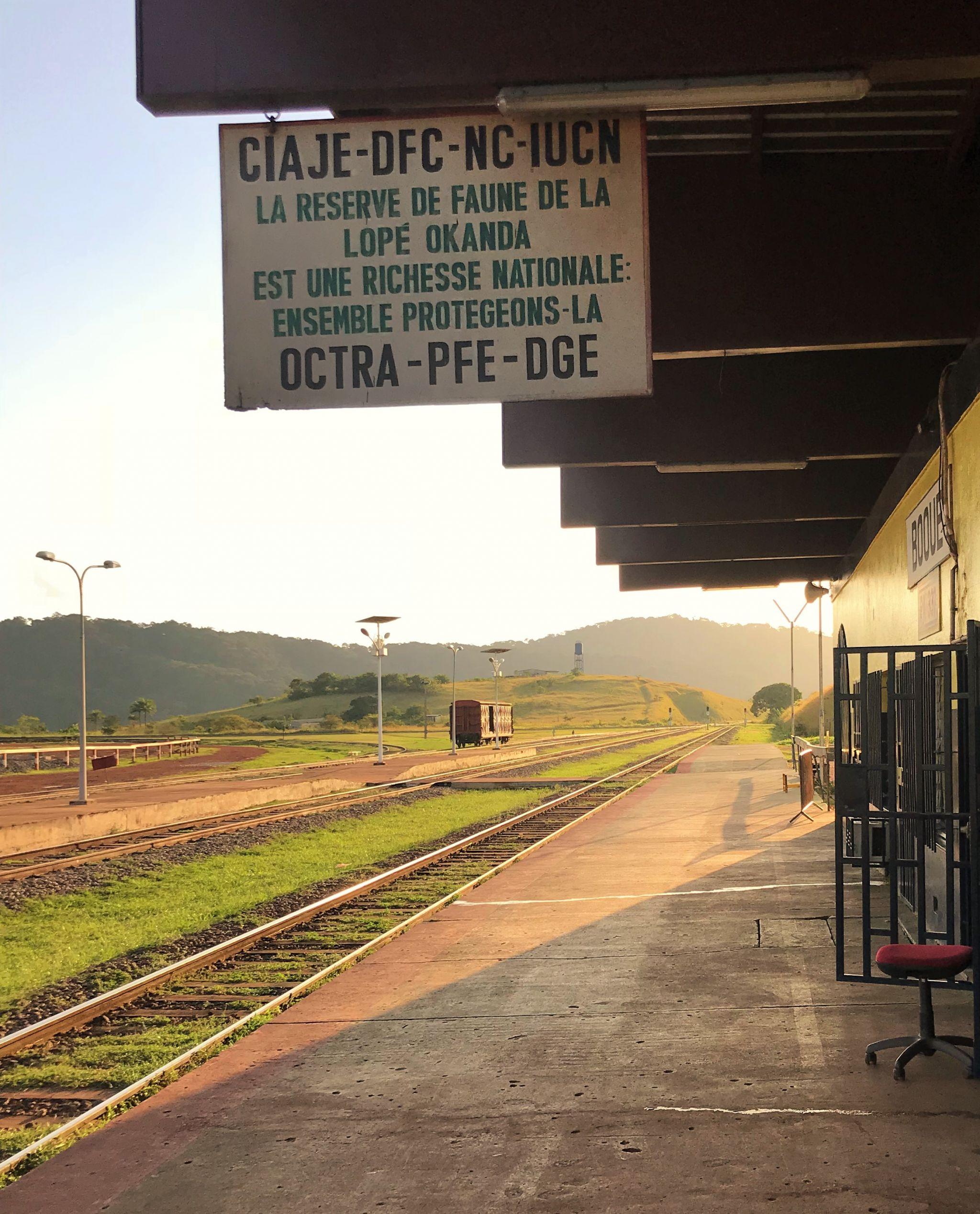 Trans Gabon Railway - Booue Train Station