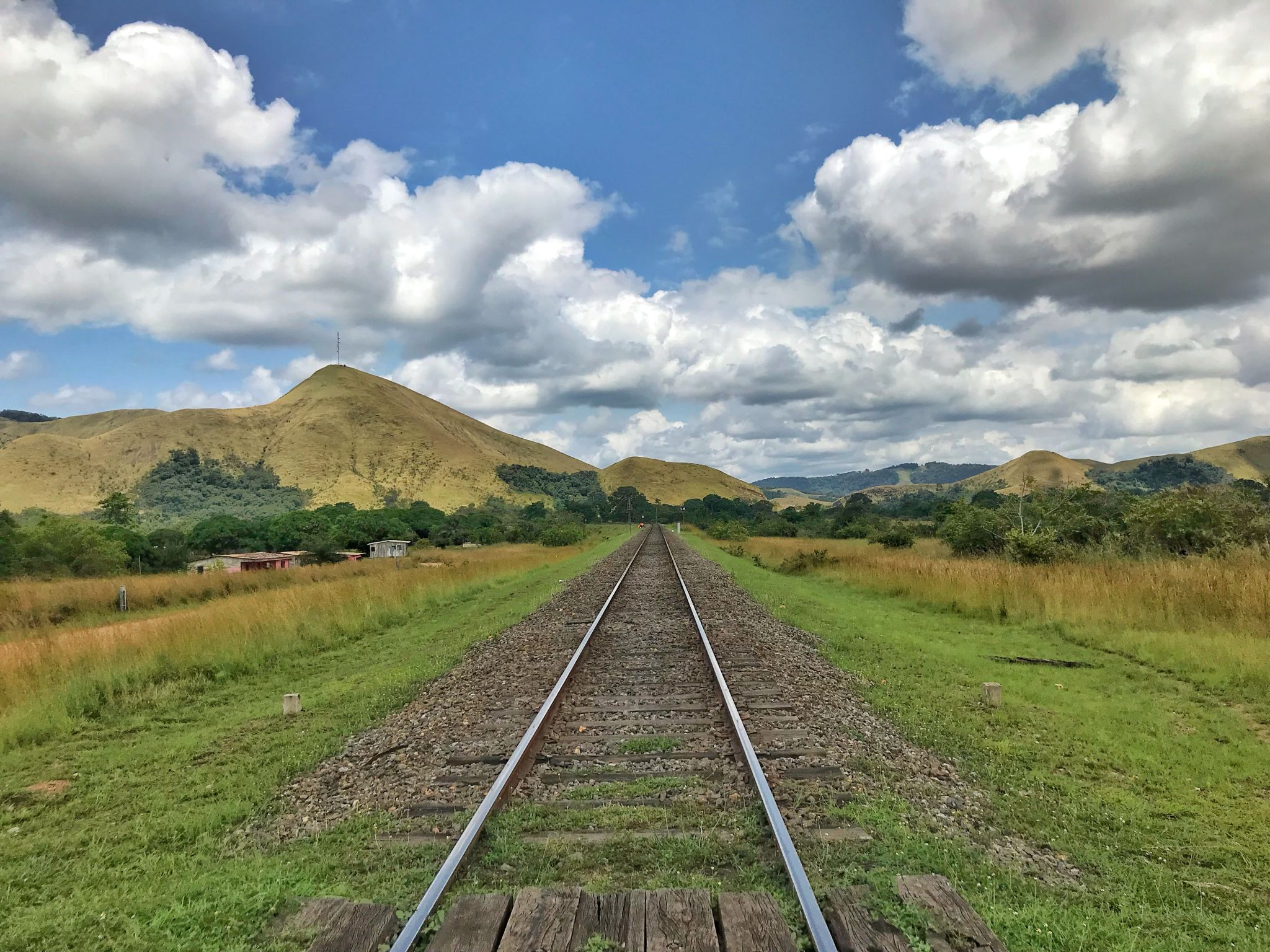 Trans Gabon Railway - Lope Station Track View