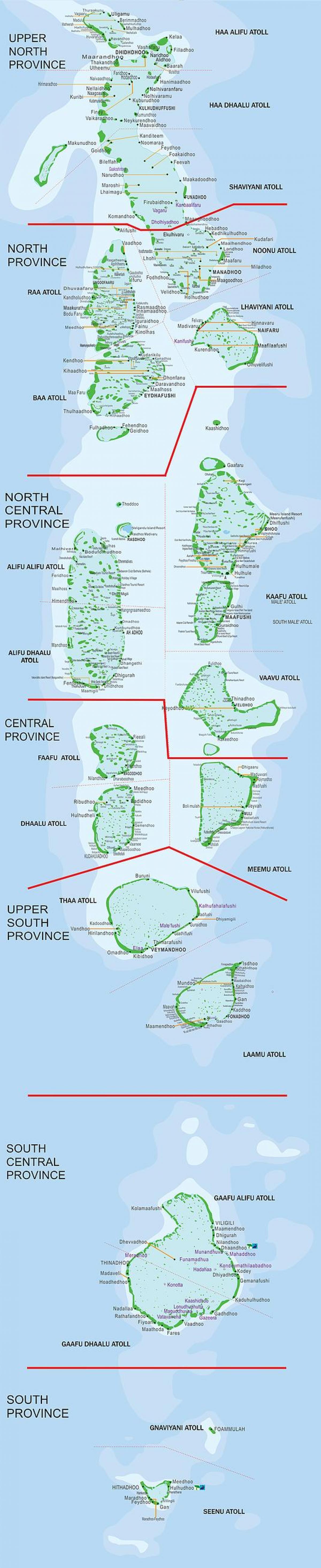 Maldives Atoll Ferry Map