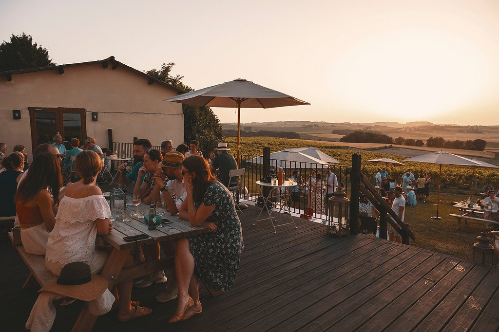 La Vue France Bordeaux Wedding BBQ Sunset