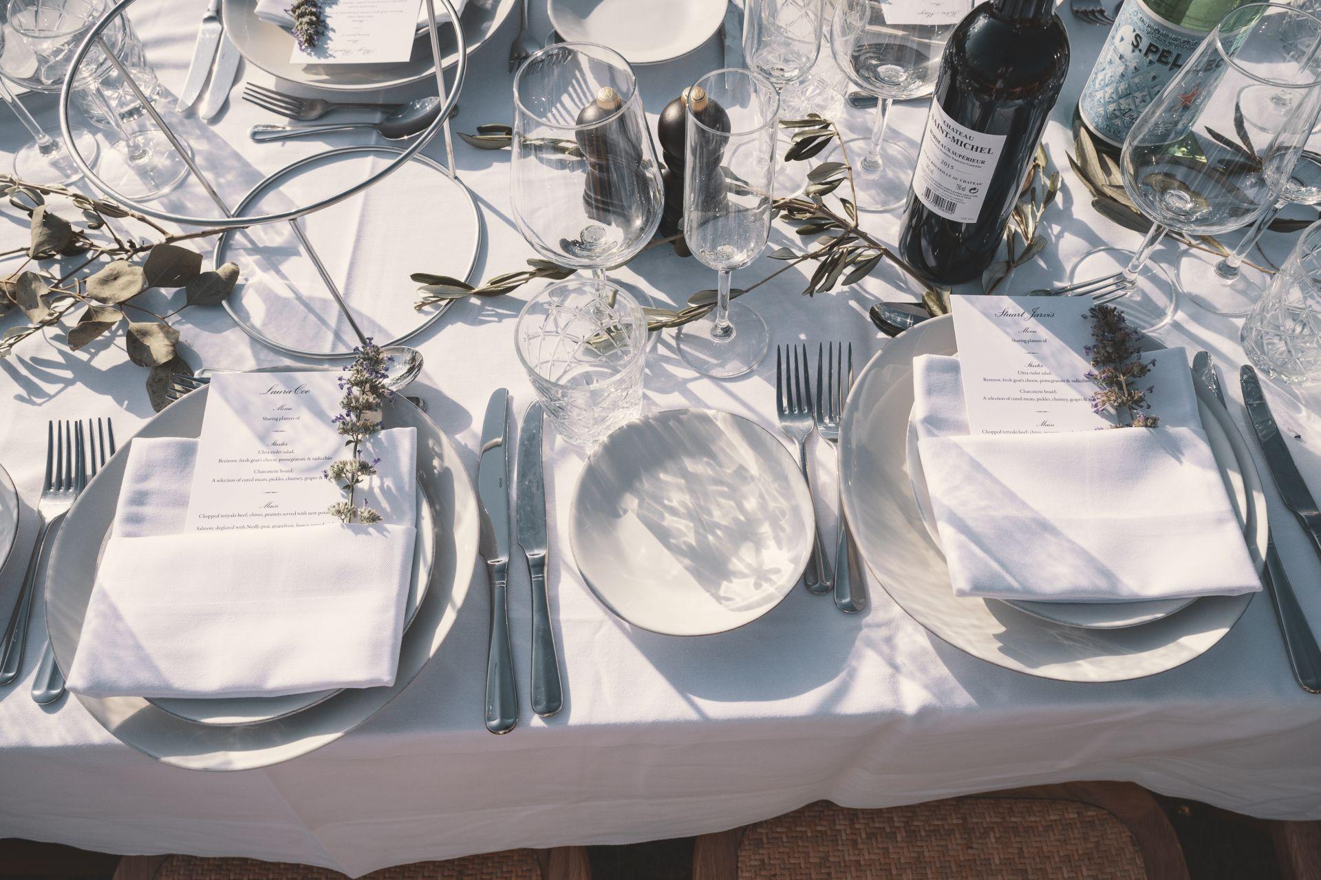 La Vue France - Wedding Breakfast- Table Setting - StuJarvis.com